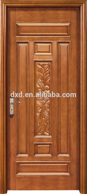 Wooden carving main door design with rob handle buy - Single main door designs for home in india ...