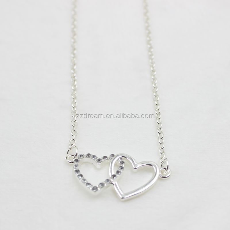 Connection heart jewelry necklace.ture love jewelry necklace for couples