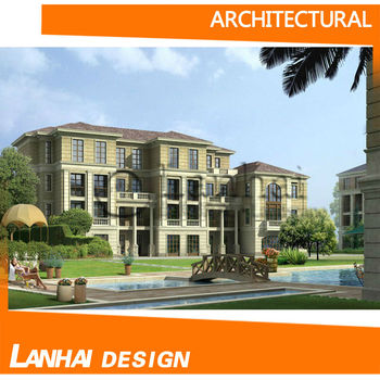 American Style Luxury Villa Architectural Design