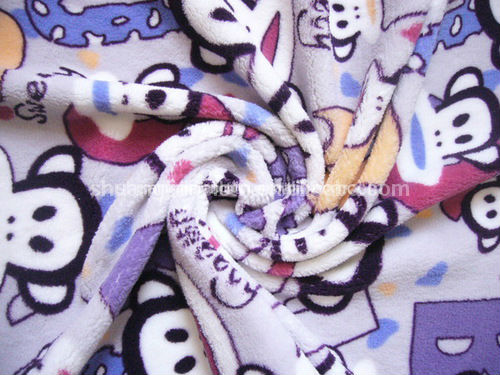 New arrived 2013 animal pattern ,double-side ,surper soft ,printed flannel velvet fabric