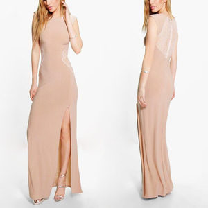 Ladies Sexy Maxi Nighty Evening Dresses Fish Cut Dress For Women 2016