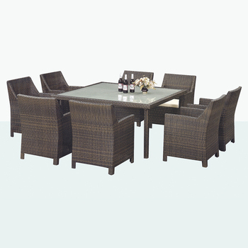 Cheapest Price Outdoor Dinner Table Set Used Patio Furniture Wicker