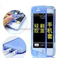 Wholesale Full Body Protection Front Back Cover Flip Tpu Case For Iphone 5