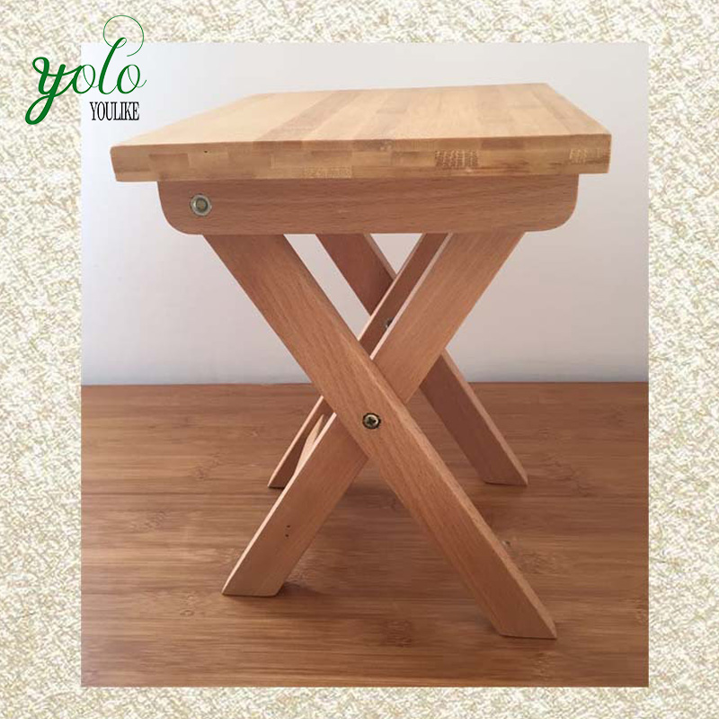 Bamboo Folding Toilet Stool Portable Fishing Bench Chair - Buy ...