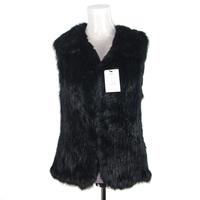 Fashion Women Fur Gilet/Rabbit Knit Winter Fur Vest KZ14026
