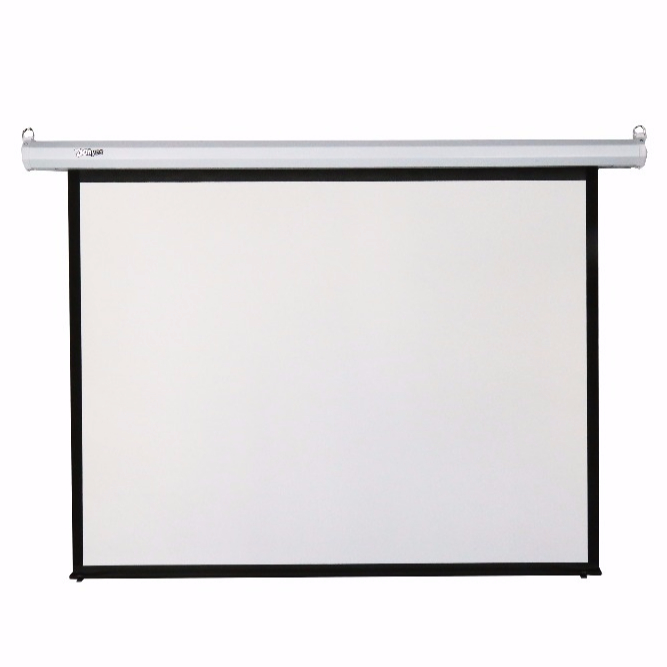 HDMI Motorized Projection Screens Automatic Remote Control for Led Projector