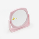 2018 New design pink plastic frame desktop mirror makeup mirror