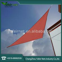 180g triangular and square hot sale waterproof plastic shade sail in handbags