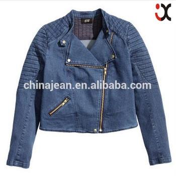 No Name Brand Denim Jean Jacket Woman S Fashion Zipper Top Coat