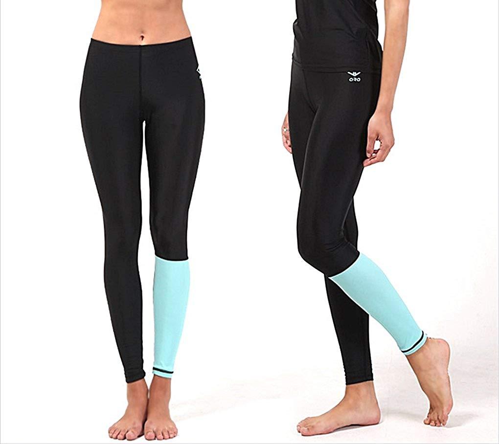 Get Quotations · myglory77mall Womens Black Water Leggings Shorts Running  Gym Rash Guard Sports Pants 31592b13bf