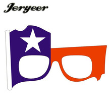 New Design Chile flag sunglasses party cheap colored crazy glasses for party