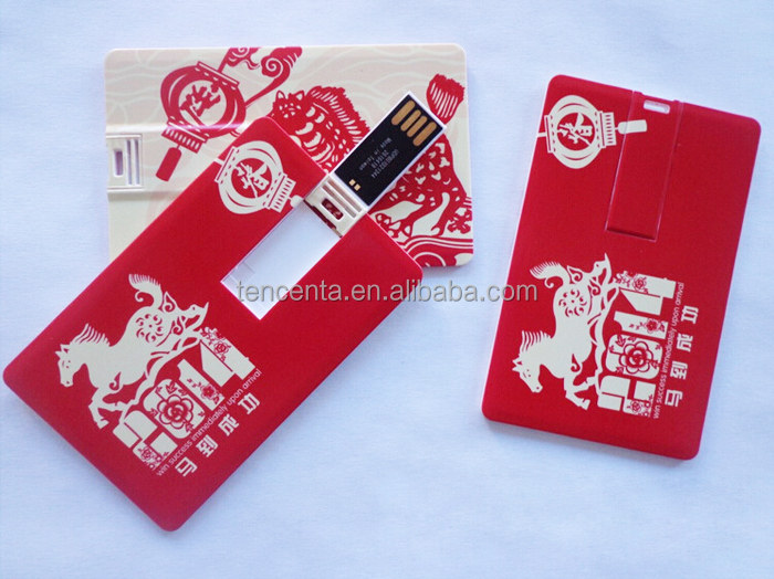 Custom credit card shape usb flash drive usb card