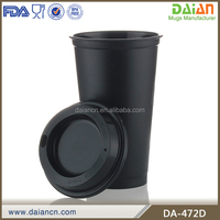 16oz plastic personalized coffee mug with lid