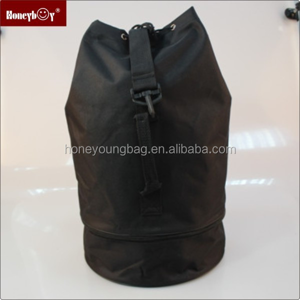 cheap black Barrel Shape drawstring bags on sale