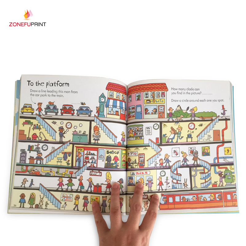 Offset Printing Children Paperback Book Printing Kids Colorful Book