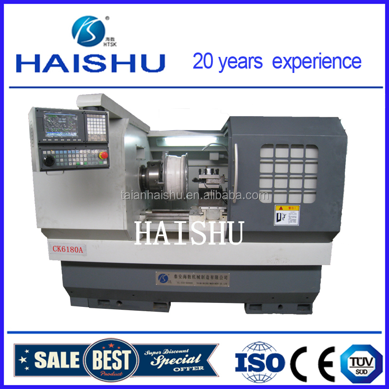 Alloy wheel working cnc lathe machine tool of cars form haishu CK6180A