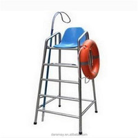 Swimming pool stainless steel safety equipment lifeguard chairs/super safe equipment life guard chairs