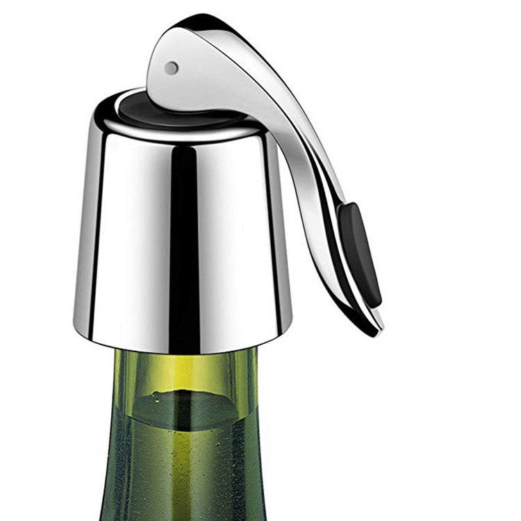 Alibaba.com / Amazon top seller 2019 Reusable Metal Wine Bottle Cap Plug Sealer Stainless Steel Blanks Vacuum Custom Wine Bottle Stopper