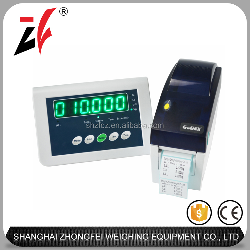 factory supply RS232 handfree weighing indicator with printer