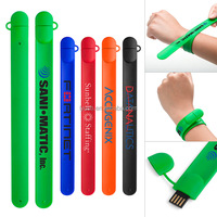 promotional slap bracelet usb pen drive usb2.0 memory with your company logo 8gb 16gb