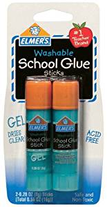 Elmers Washable School Glue Gel Sticks-.28 Ounce 1 pcs sku# 654813MA
