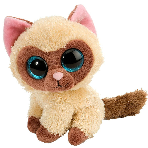 Плюшевый кот с глазами