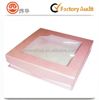 Hot Sale Rectangle Coloring Custom Window Box See Through Gift Boxes ...