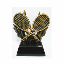 Tennis trophy with racket