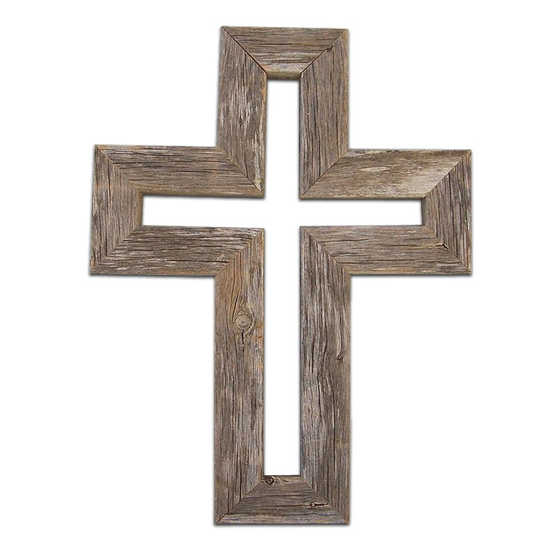 Christmas Decor Pieces Handmade Brown Wooden Cross Wood Wall Decoration Product On