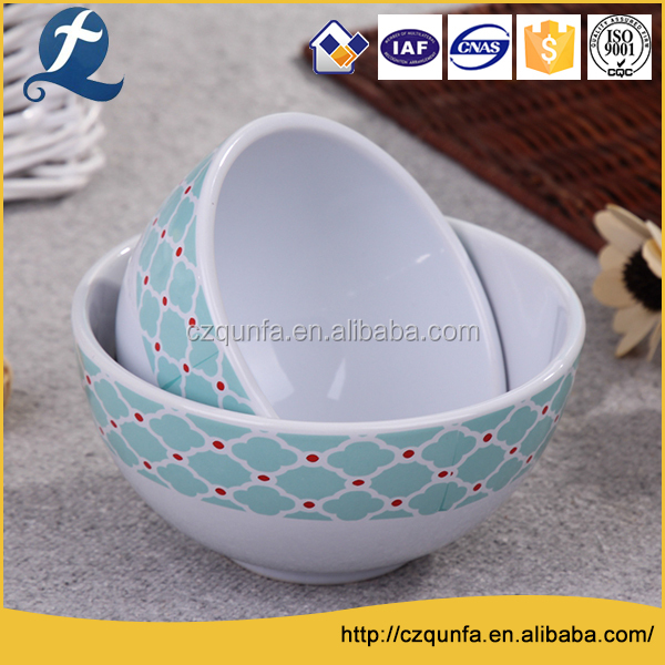 Custom printing ceramic pet slow feeder dog food bowls