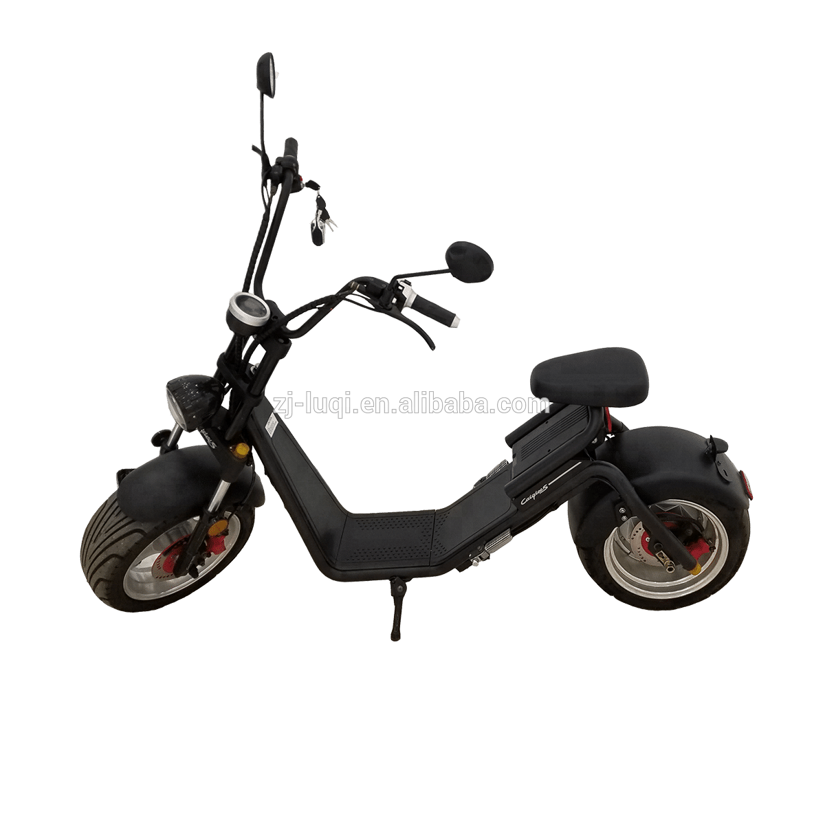 E-mark/COC/EEC Hot Sale 1200W Electric Scooter 2 fat tire Citycoco, Customized