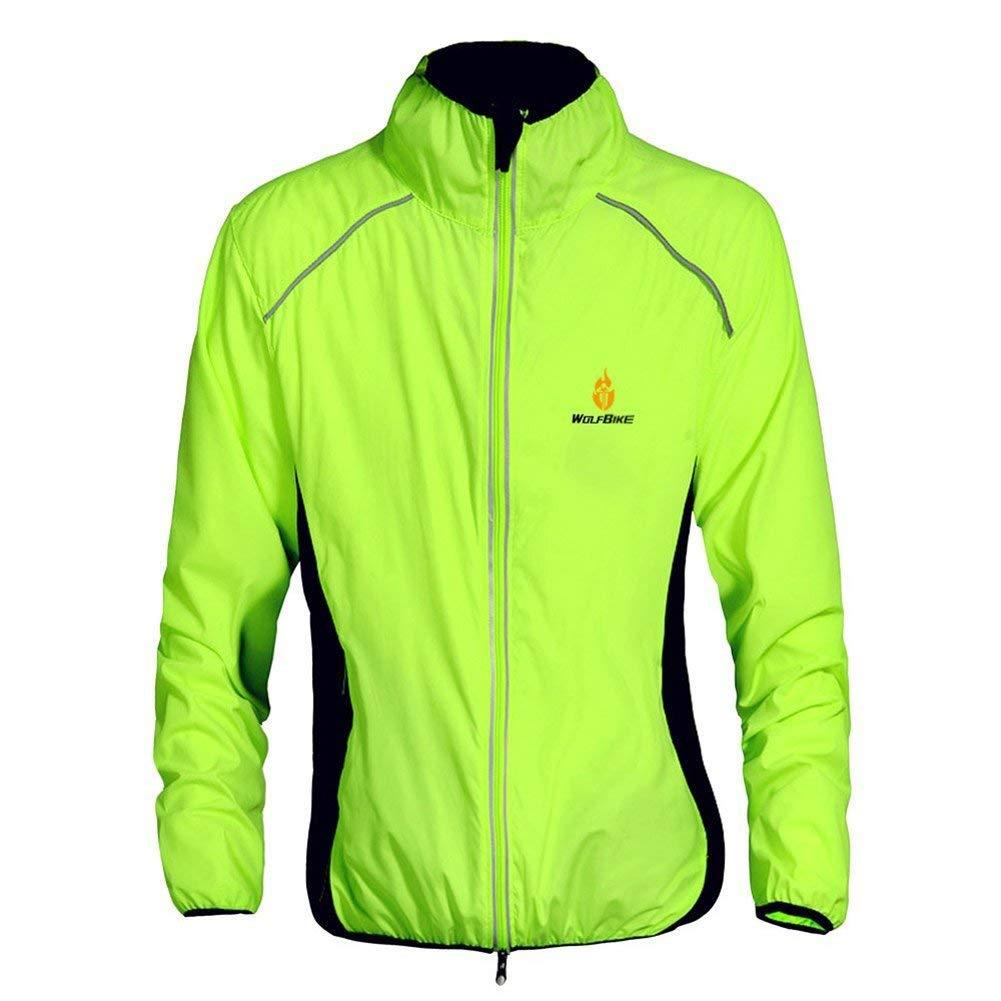 Get Quotations · WOLFBIKE Cycling Jacket Jersey Wind Coat Windbreaker Jacket  Outdoor Sportswear 7a500d405