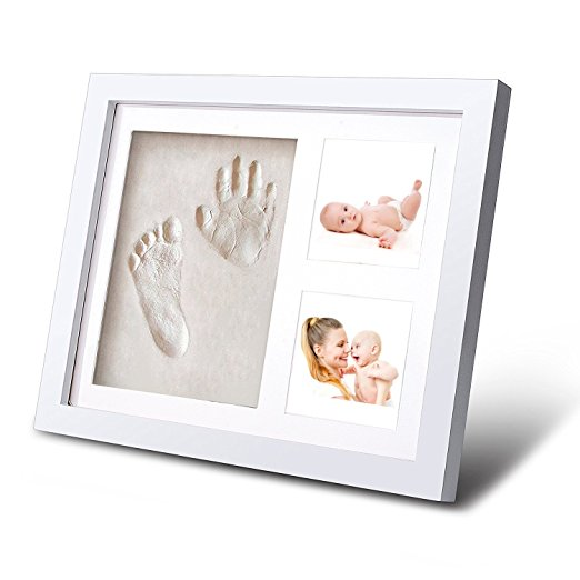 Precious Prints Baby Clay Handprint Kit Com Photo Frame Para 2 Imagens / Baby Mão & Foot Cast Kit A Granel