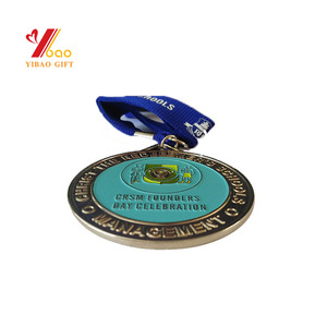 Ribbon Size Color Zinc Alloy Finisher Medallion Custom Horse Medals Sports Cups Trophies Medal