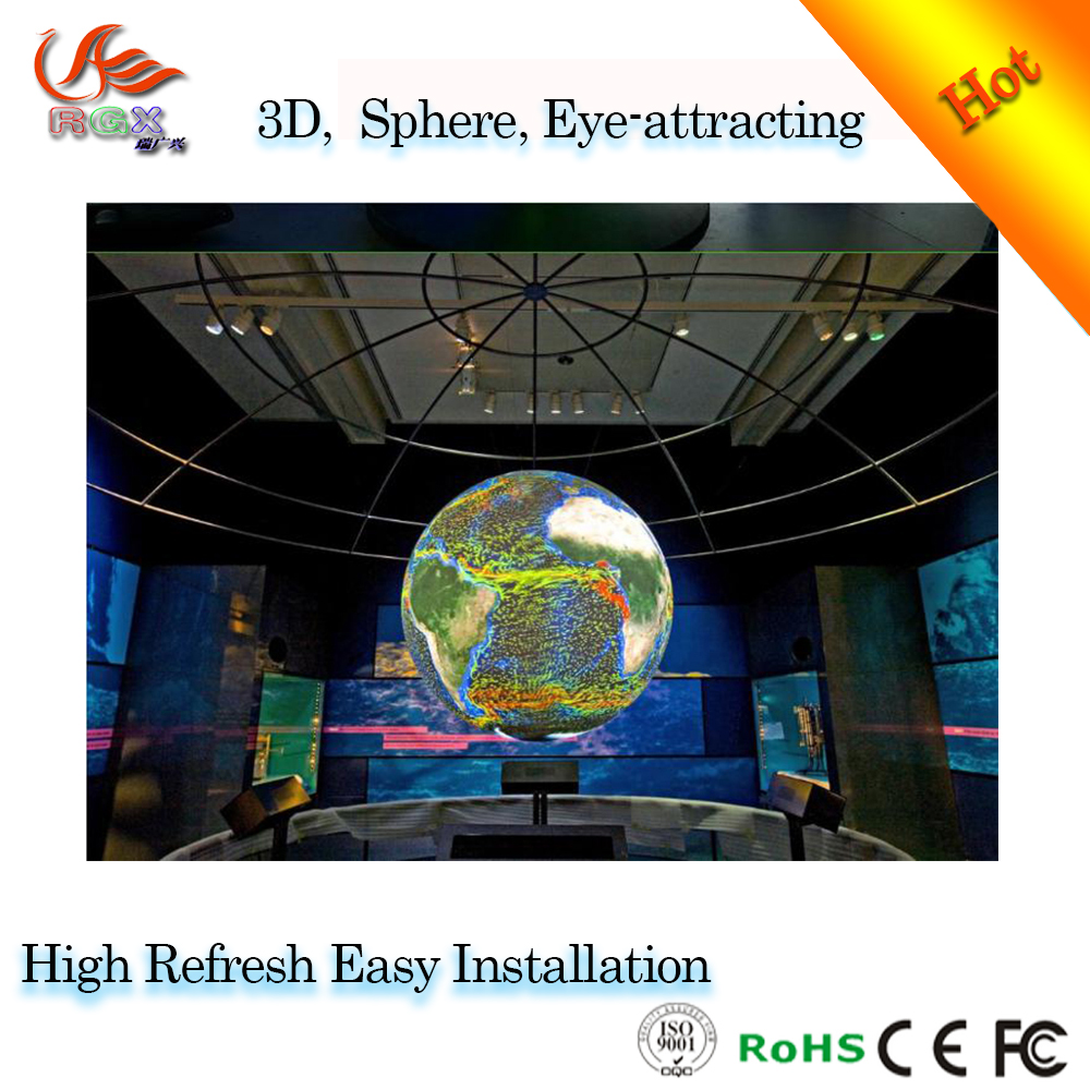RGX HD full color led spheric display/led ball screen/indoor use for event and event video show
