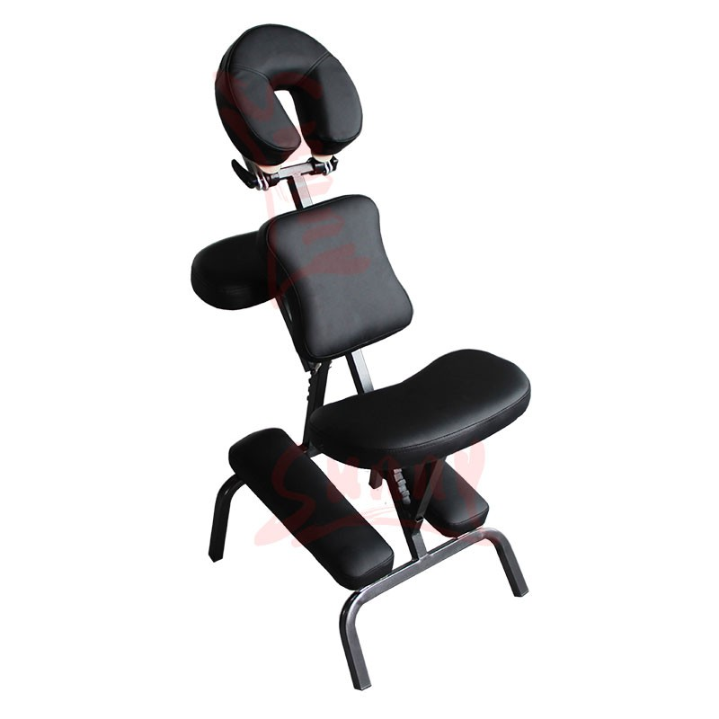 Iron Massage Chair Portable Rest Tattoo Stools Black