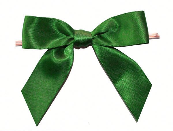 high quality ribbon bow with wire twist tie