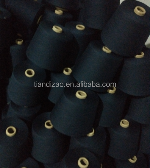 Ne30S/3 navy blue dope dyed meta aramid sewing thread