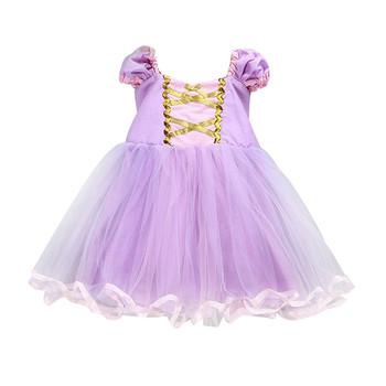 Niños Niña Enredados Rapunzel Vestido De Princesa Para Niños Bebé Niña Traje De Halloween Vestido De Navidad Buy Vestido De Princesa Rapunzel