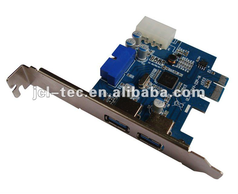 2 Usb 3.0 To Pci-e Card Adapter W/ Motherboard 20p 20 Pin W/ Sata ...