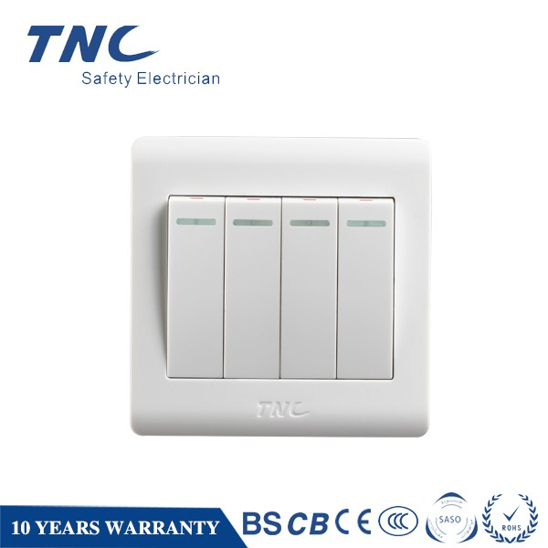 E6214 4 Gang 1 Way 2way Switch Electric Wall Switch 4 Gang Switch ...