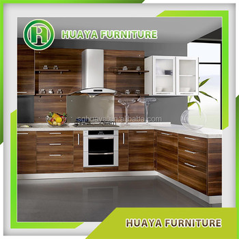Pvc Wood Grain Kitchen Cabinets Vinyl Wrapped Kitchen Cabinet Door