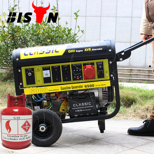 BISON(CHINA) BS7500J(H) 6KW 6KVA Silent Easy Start Easy Move With Wheels LPG Generator