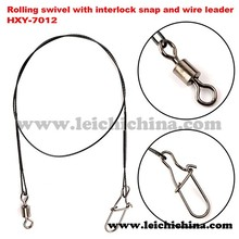 with interlock snap and wire leader rolling swivel
