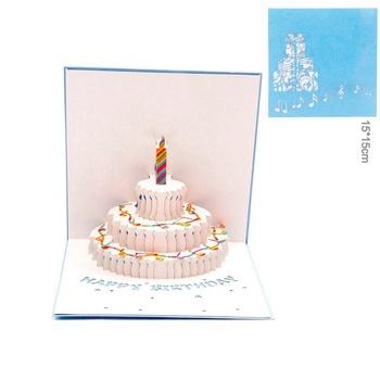 Paperspiritz 3D Pop Up Cake Laser Cutting Greeting Card Handmade Birthday Design
