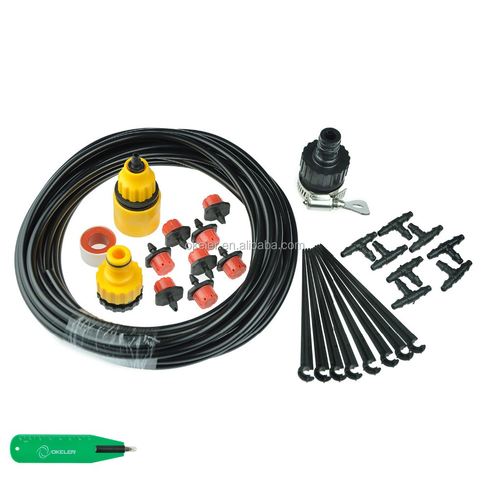 8 Drip 8Meters Home Automatic Irrigation Sets, Garden Self Watering System