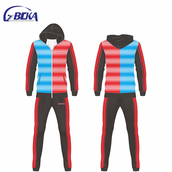 Best selling color block hoodies and joggers set men jogging suits wholesale