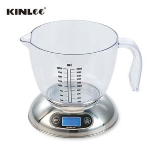 MADE for USA/EUROPE SCALE_ EK15A Milk Scale + Large CUP with Water/Oil Volume Measuring Scale by ml / OZ , Capacity=5kg ,1g