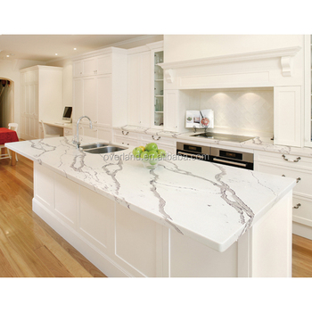 White Galaxy Quartz Countertop With Grey Veins