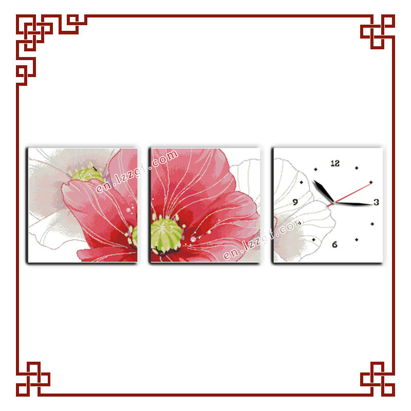 NKF Corn poppy modern cross stitch patterns for home wall decoration